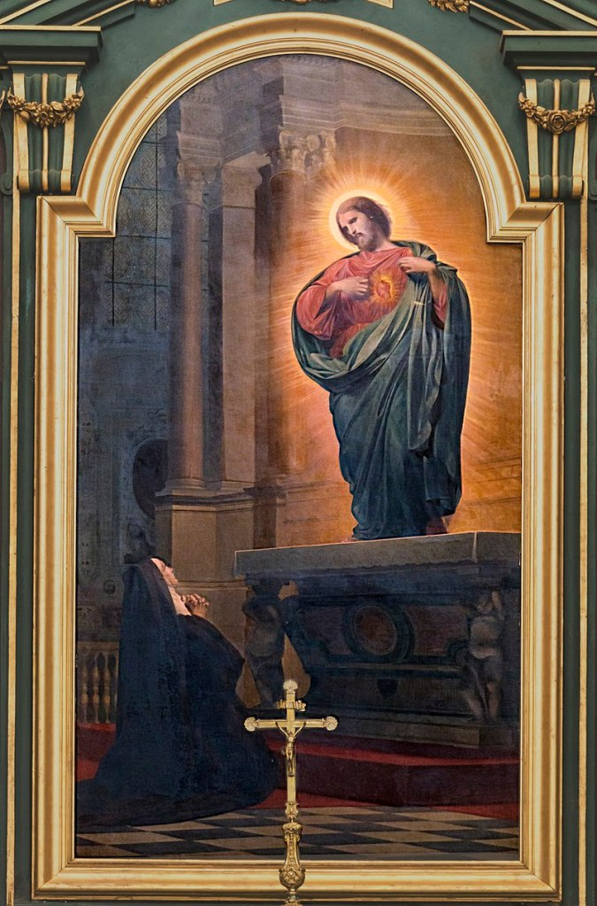 Painting of Jesus appearing to St. Margaret Mary Alocoque